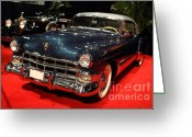 1948 Cadillac Coupe Greeting Cards - 1948 Cadillac Coupe . Front Angle Greeting Card by Wingsdomain Art and Photography