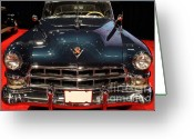 1948 Cadillac Coupe Greeting Cards - 1948 Cadillac Coupe . Front View Greeting Card by Wingsdomain Art and Photography