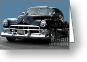 1948 Cadillac Coupe Greeting Cards - 1948 Cadillac Fastback Greeting Card by Robert Meanor