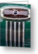 Old Relics Greeting Cards - 1948 Chevy Coupe Tail Light Greeting Card by Mary Deal