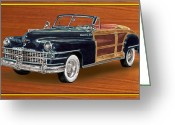 Sportsmen Greeting Cards - 1948 Chrysler Town and Country Greeting Card by Jack Pumphrey