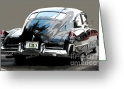 1948 Cadillac Coupe Greeting Cards - 1948 Fastback Cadillac Greeting Card by Robert Meanor
