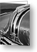 Stock Photography Greeting Cards - 1948 Pontiac Chief Hood Ornament 4 Greeting Card by Jill Reger