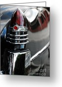 1948 Cadillac Coupe Greeting Cards - 1948 Tailfin Greeting Card by Robert Meanor