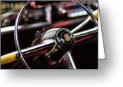 Harry F. Barr Greeting Cards - 1949 Cadillac Steering Wheel Greeting Card by Gordon Dean II