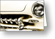 Head Lights Greeting Cards - 1949 Mercury Greeting Card by Scott Norris