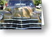 1949 Plymouth Greeting Cards - 1949 Plymouth Delux Sedan . 5D16205 Greeting Card by Wingsdomain Art and Photography