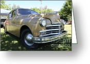 1949 Plymouth Greeting Cards - 1949 Plymouth Delux Sedan . 5D16207 Greeting Card by Wingsdomain Art and Photography
