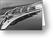 Car Mascot Greeting Cards - 1949 Plymouth Hood Ornament 2 Greeting Card by Jill Reger