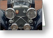 1950 Greeting Cards - 1950 Jaguar XK120 Roadster Grille Greeting Card by Jill Reger