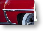 Twitter Greeting Cards - 1950 Oldsmobile Rocket 88 Wheel Greeting Card by Jill Reger