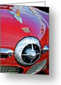 Mascots Greeting Cards - 1950 Studebaker Champion Hood Ornament Greeting Card by Jill Reger