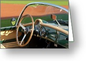 Car Photographs Greeting Cards - 1950s Lancia Convertible Greeting Card by Jill Reger