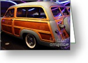 Cars Greeting Cards - 1951 Ford Country Squire - 7D17485 Greeting Card by Wingsdomain Art and Photography