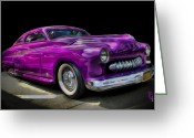 Vehicles Digital Art Greeting Cards - 1951 Mercury Coup Greeting Card by Byron Fli Walker