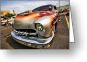 Terry Digital Art Greeting Cards - 1951 Mercury Custom Greeting Card by Gordon Dean II
