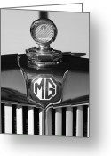 Td Greeting Cards - 1951 MG TD Messko Thermometer Hood Ornament 2 Greeting Card by Jill Reger