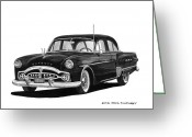 90s Greeting Cards - 1951 Packard Patrician 400 Greeting Card by Jack Pumphrey