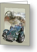 Out Of Frame Greeting Cards - 1952 Allard J2X Greeting Card by Roger Beltz