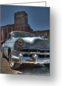 St Louis Missouri Greeting Cards - 1952 Chevy Bel Air Greeting Card by Jane Linders