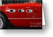 Red Ferrari Greeting Cards - 1953 250MM Ferrari . Red . 7D9146 Greeting Card by Wingsdomain Art and Photography