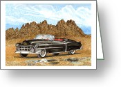Southern Rocky Mountains Greeting Cards - 1953 Cadillac ElDorado Biarritz Greeting Card by Jack Pumphrey