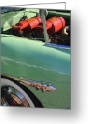 Hornet Greeting Cards - 1953 Hudson Hornet Sedan Engine Greeting Card by Jill Reger