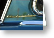 Car Detail Greeting Cards - 1953 Studebaker Champion Starliner Abstract Greeting Card by Jill Reger