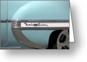 Street Rod Greeting Cards - 1954 Chevy Belair Greeting Card by Mike McGlothlen