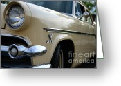 Ford V8 Greeting Cards - 1954 Ford Customline Front End Greeting Card by Paul Ward