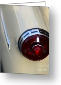 Ford V8 Greeting Cards - 1954 Ford Customline Tail Light Greeting Card by Paul Ward