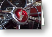 Photographs Drawings Greeting Cards - 1954 Hudson Steering Wheel Greeting Card by Jill Reger