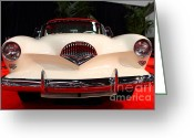 Transportation Greeting Cards - 1954 Kaiser Darrin Roadster . 7D9182 Greeting Card by Wingsdomain Art and Photography