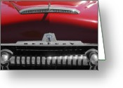 Fifties Automobile Greeting Cards - 1954 Mercury Monterey Hood Ornament Greeting Card by Jill Reger