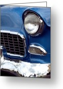 Fifties Greeting Cards - 1955 Chevy Front End Greeting Card by Anna Lisa Yoder