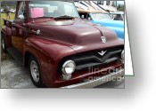 Collectors Car Greeting Cards - 1955 Ford F100 Truck 7d15152 Greeting Card by Wingsdomain Art and Photography