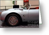 Racecars Greeting Cards - 1955 Porsche 550 RS Spyder . 7D 9411 Greeting Card by Wingsdomain Art and Photography