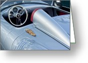 Car Photographs Greeting Cards - 1955 Porsche Spyder  Greeting Card by Jill Reger