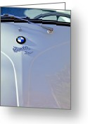 Bmw Classic Car Greeting Cards - 1956 BMW Isetta 300 Hood Greeting Card by Jill Reger