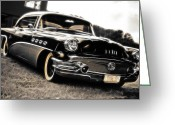 Beach Hop Greeting Cards - 1956 Buick Super Series 50 Greeting Card by Phil 