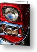 Detroit Photography Greeting Cards - 1956 Chevrolet Bel Air Greeting Card by Gordon Dean II