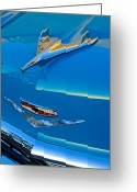 Car Mascot Greeting Cards - 1956 Chevrolet Hood Ornament 4 Greeting Card by Jill Reger