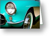 Car Ornaments Greeting Cards - 1956 Chevy Corvette Greeting Card by David Patterson