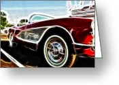 Fractalius Art Greeting Cards - 1956  Corvette Greeting Card by Paul Ward