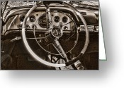 Ron Roberts Photography Framed Prints Greeting Cards - 1956 Desoto Dash Greeting Card by Ron Roberts