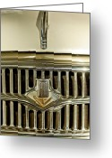Classic Fiat Greeting Cards - 1956 Fiat 1100 TV Hood Ornament Greeting Card by Jill Reger