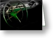 Antique Cars Greeting Cards - 1956 Green Hornet Chevy Belair   Greeting Card by Steven  Digman
