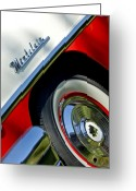 Twitter Greeting Cards - 1956 Mercury Montclair Wheel Emblem Greeting Card by Jill Reger