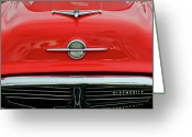 Mascots Greeting Cards - 1956 Oldsmobile Hood Ornament 4 Greeting Card by Jill Reger