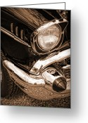 Drag Greeting Cards - 1957 Chevy Bel Air Greeting Card by Gordon Dean II